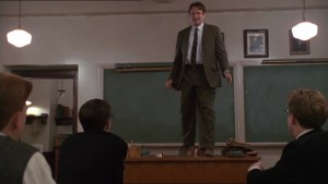 Robin Williams nella famosa scena del film