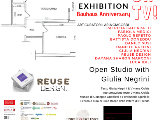 Bauhaus Anniversary on Tv The Room Exhibition: Open Studio with Giulia Negrini